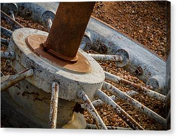 Steel Wheel Canvas Print by Beverly Parks
