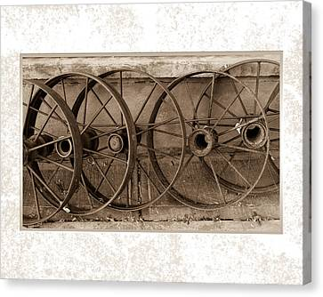 Steel Wheels Canvas Print