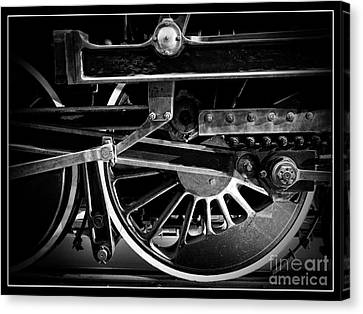 Steel Wheels - Steam Train Drivers Canvas Print