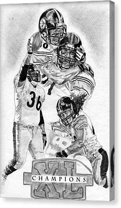 Steelers Canvas Print - Steelers Champions by Jonathan Tooley
