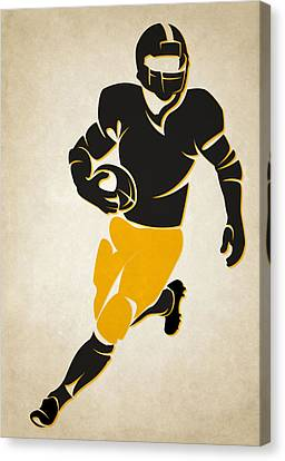 Football Canvas Print - Steelers Shadow Player by Joe Hamilton