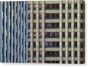 Steelness Of Geometry Canvas Print by Joanna Madloch