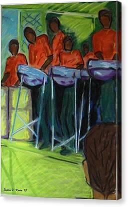Steelpan In Chaguaramas Canvas Print by Nadira Karim