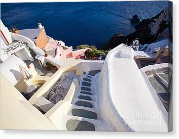 Steep Down Stairs Canvas Print by Aiolos Greek Collections