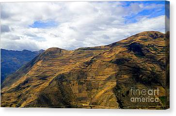 Steep Farms In The Andes Canvas Print