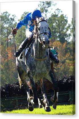 Canvas Print featuring the photograph Steeplechase by Robert L Jackson