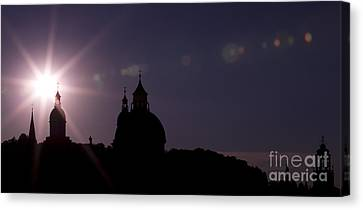 Steeples At Sunset Canvas Print