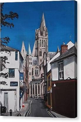 Canvas Print featuring the painting Steeples by Cherise Foster
