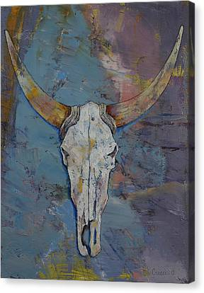 Steer Skull Canvas Print by Michael Creese