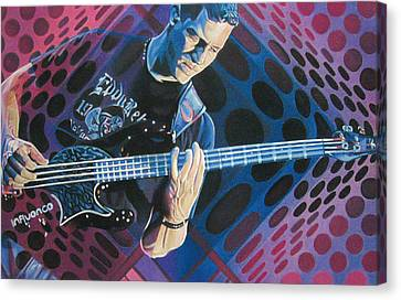 Dave Matthews Band Canvas Print - Stefan Lessard Pop-op Series by Joshua Morton