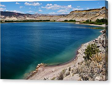 Canvas Print featuring the photograph Steinacker Reservoir Utah by Janice Rae Pariza