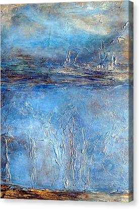 Stellar Wind Abstract Textured Painting Canvas Print