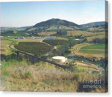 Stenner Creek Amtrak Trestle Canvas Print