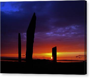Stennes Sunset Canvas Print by Steve Watson