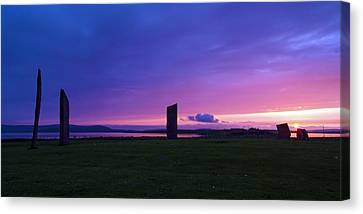 Stenness Sunset 3 Canvas Print by Steve Watson