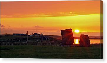 Stenness Sunset 4 Canvas Print by Steve Watson