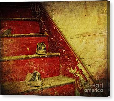 Canvas Print featuring the photograph Step Back In Time by Debra Fedchin