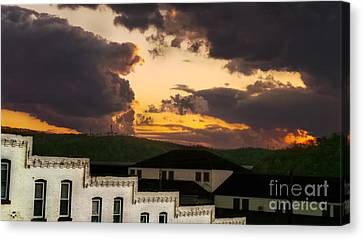 Beautiful Clouds Canvas Print by Charlie Cliques