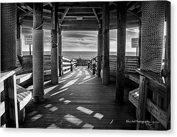 Step Into The Sun Canvas Print by Volker 'blu' Firnkes