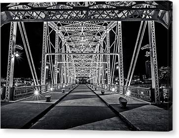 Step Under The Steel Canvas Print by CJ Schmit