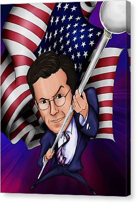Stephen Colbert Canvas Print by Paul Gioacchini