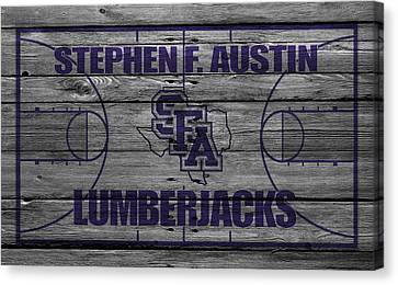 Stephen F Austin Lumberjacks Canvas Print by Joe Hamilton