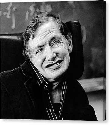21st Century Canvas Print - Stephen Hawking by Lucinda Douglas-menzies