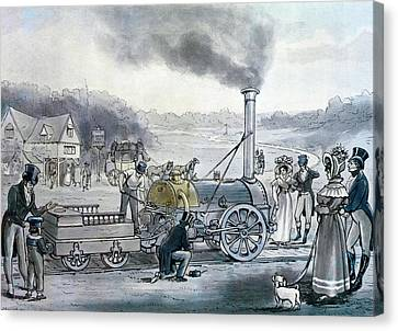 Stephensons Northumbrian, The First Locomotive To Be Built With An Integral Firebox Canvas Print