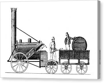 Stephensons Rocket 1829 Canvas Print by Science Source