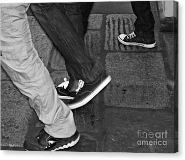 Canvas Print featuring the photograph Stepping Out by Clare Bevan