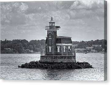 Stepping Stones Lighthouse II Canvas Print by Clarence Holmes