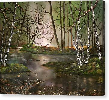 Cannock Chase Canvas Print - Stepping Stones On Cannock Chase by Jean Walker