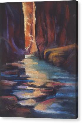 Stepping Stones Zion Canyon Canvas Print