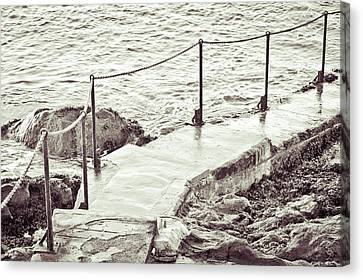 Sea Watch Canvas Print - Steps At The Sea by Tom Gowanlock