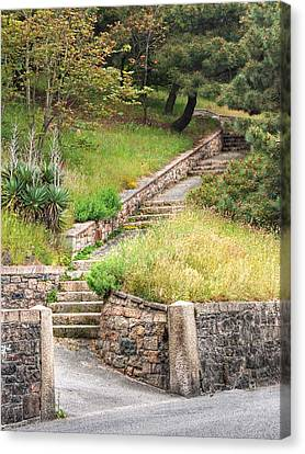 Steps Guiding The Way Canvas Print by Gill Billington