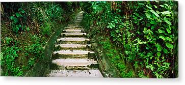 Steps Leading To A Lighthouse, Morro De Canvas Print by Panoramic Images