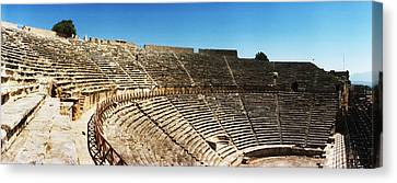 Steps Of The Theatre In The Ruins Canvas Print by Panoramic Images