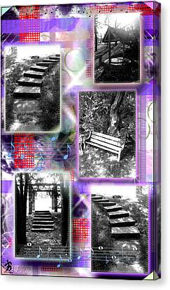 Steps Single Purplered Canvas Print
