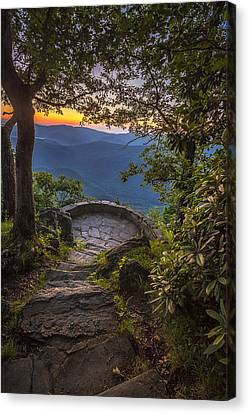 Steps To A View Canvas Print by Andrew Soundarajan