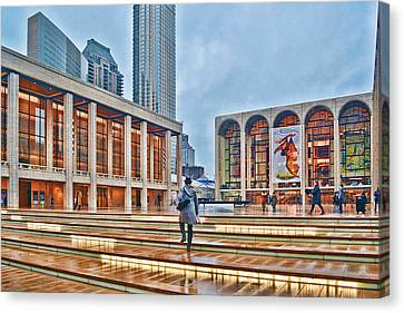 Steps To Fame Lincoln Center Canvas Print