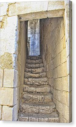 Steps To Matera Canvas Print by Oscar Alvarez Jr