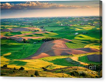Steptoe Butte Sunset Canvas Print by Inge Johnsson
