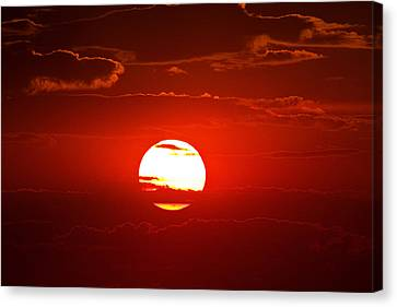 Steptoe Sunset Canvas Print by Mark Kiver