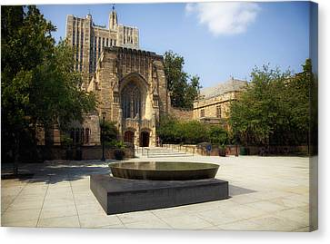 Sterling Memorial Library And The Women's Table - Yale University Canvas Print by Mountain Dreams