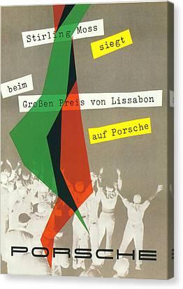 Sterling Moss Porsche Racing Poster Canvas Print