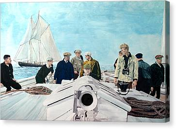 Bluenose Canvas Print - Sterlinghayden And The'38 Race by Laurence Dahlmer