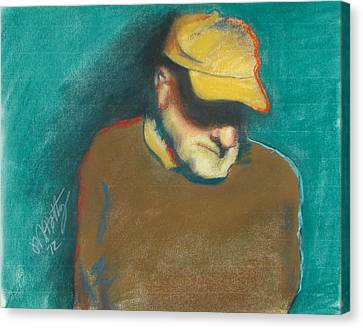 Steve In Thought Canvas Print