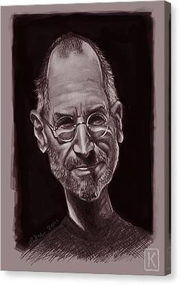 Steve Jobs Canvas Print by Andre Koekemoer