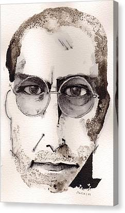 Steve Jobs As The Innovator Canvas Print by Mark M  Mellon