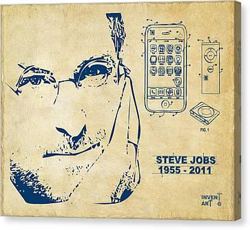 Innovator Canvas Print - Steve Jobs Iphone Patent Artwork Vintage by Nikki Marie Smith
